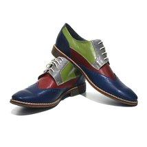 Modello Caserta - 40 EU - Handmade Colorful Italian Leather Oxfords Unique La... - $149.00