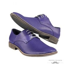 Modello Brindisi - 40 EU - Handmade Colorful Italian Leather Oxfords Unique L... - $149.00