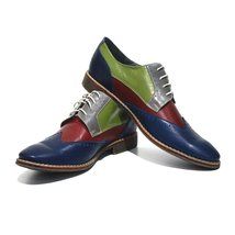 Modello Caserta - 45 EU - Handmade Colorful Italian Leather Oxfords Unique La... - $149.00