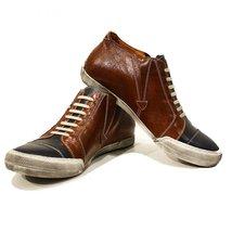 Modello Emiliano - 45 EU - Handmade Colorful Italian Leather Unique Funky Lac... - $149.00
