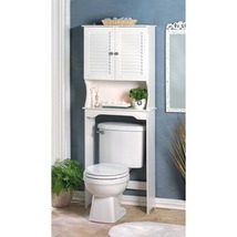 Bathroom Cabinet Over the Toilet Space Saver White Shelf Storage - $87.75