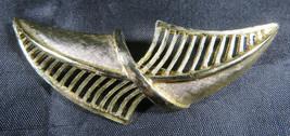 "Vintage Fashion Jewelry Lady Leaf Coro Brooch Retro Gold Color 2""3/4 - $25.00"