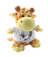 GIRAFFE CRAZY CRITTER CUDDLY SOFT TOY WITH YOUR PHOTO AND TEXT - $22.00