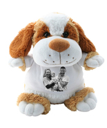 DOG CRAZY CRITTER CUDDLY SOFT TOY WITH YOUR PHOTO AND TEXT - $22.00