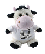 COW CRAZY CRITTER CUDDLY SOFT TOY WITH YOUR PHOTO AND TEXT - $22.00
