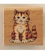 """Cute Cat Rubber Stamp by Stampcraft 1 1/2"""" x 1 1/2"""", 440D39 - $5.19"""