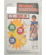 M&M Candy Sewing Patterns Baby Child Simplicity 7835 Halloween - $7.13