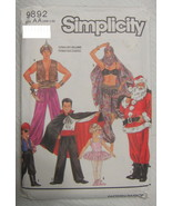 Variety Pack of Sewing Patterns Adult and Child Simplicity 9892 Halloween - $7.13
