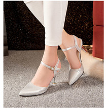 ps291 cutie strappy sandals, extra small to large size 31-43, silver - $42.80