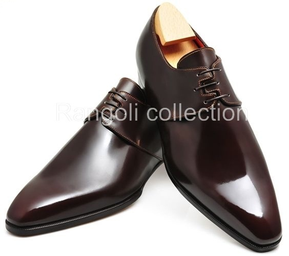 New Handmade mens fashion derby leather shoes, Men laceup leather formal shoes