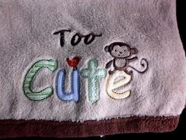 Child of Mine Carters Tan Brown Monkey Baby Bla... - $19.55