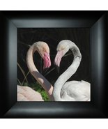 Having a Heart to Heart Talk By Todd Thunstedt 18x18 Pink Flamingo Valen... - $69.00