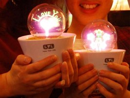 Romantic Love Potted Plant Night Lights - One Item w/Random Color and Design image 2