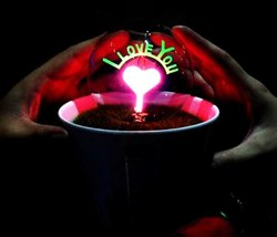 Romantic Love Potted Plant Night Lights - One Item w/Random Color and Design image 3