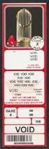 2005 Boston Red Sox Voided Full Ticket With World Series Trophy - $1.50
