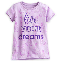 "Disney Store Princess Dreamgirls ""Live Your Dreams"" Tee T-Shirt Girls, S... - $14.00"