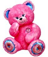 Build a Bear Fuchsia Pink Donut Sprinkles Teddy 16in. Stuffed Plush Toy ... - $114.99