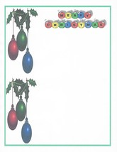 Merry Christmas Ornaments Stationery Printer Paper 26 Sheets - $9.89