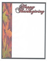 Happy Thanksgiving Autumn Leaves Stationery Printer Paper 26 Sheets - $9.89