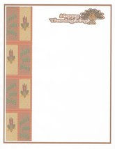 Happy Thanksgiving Gobble Gobble Stationery Printer Paper 26 Sheets - $9.89