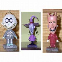 Nightmare Before Christmas Lock ShocK & Barrel  3  Bobble Heads - $38.69