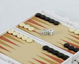 Pocket Game Backgammon on Key Chain, Magnetic Pieces, Travel Activity ~ #G102