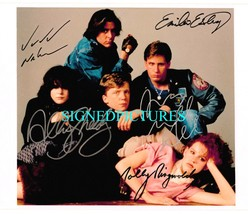 An item in the Entertainment Memorabilia category: THE BREAKFAST CLUB CAST SIGNED AUTOGRAPHED 8x10 RP PHOTO HALL SHEEDY RINGWALD +