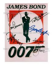 007 BOND SEAN CONNERY BROSNAN MOORE ALL JAMES BONDS SIGNED RP PHOTO DANI... - $13.99