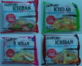 Sapporo Ichiban Japanese Style Noodle Soup  (3.5oz) Assorted Flavor - 4 ... - $13.85