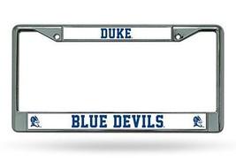 DUKE BLUE DEVILS CAR AUTO CHROME METAL LICENSE PLATE TAG FRAME NCAA UNIVERSITY