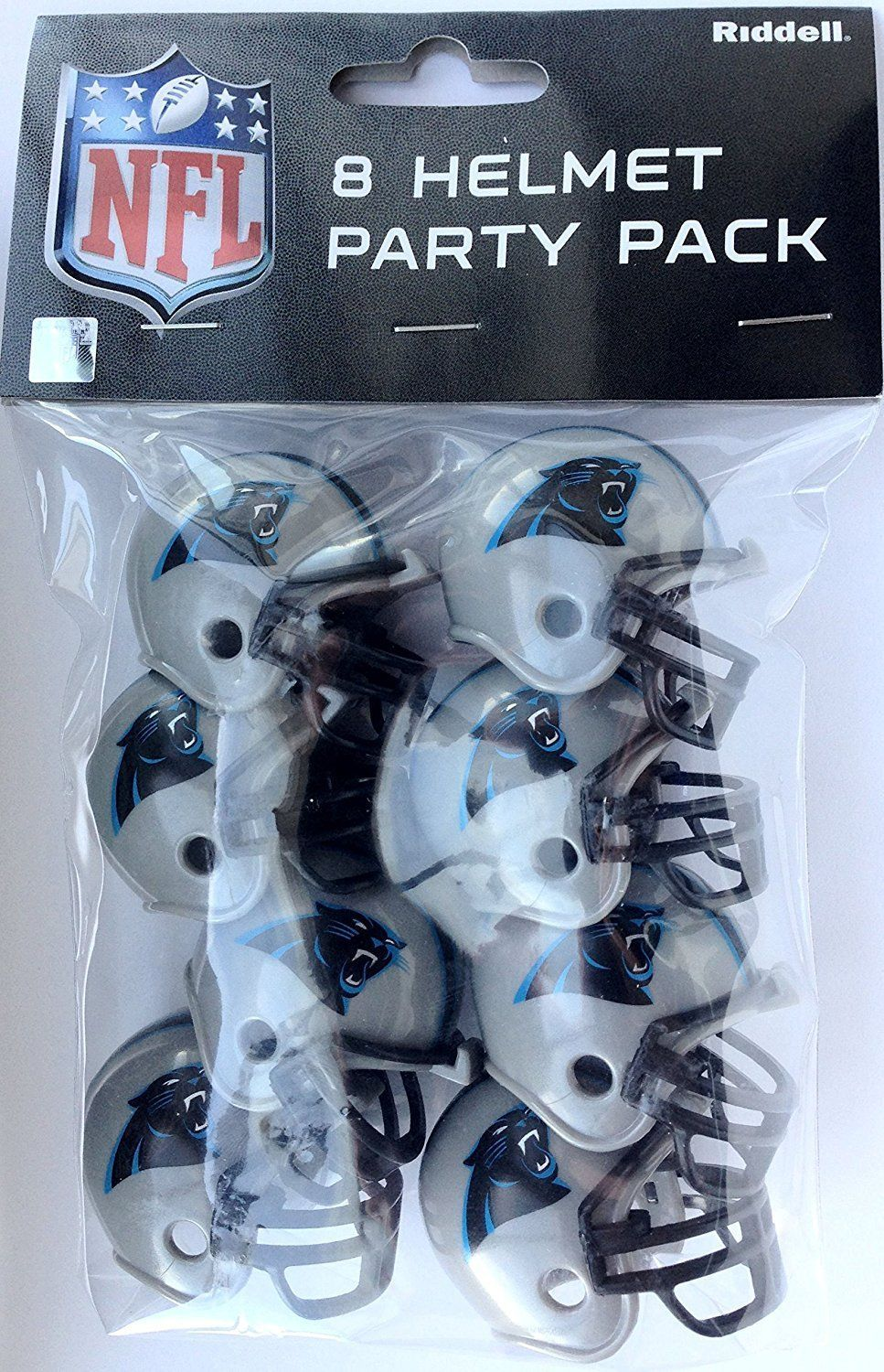 CAROLINA PANTHERS 8 PARTY PACK NFL FOOTBALL HELMETS RIDDELL
