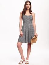 Old Navy Women Cami Dress Sundress XS S Black Geo Print Rayon Sweatheart... - €22,08 EUR