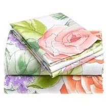Tommy Hilfiger FLORABUNDANCE Contemporary Floral 2P Twin Sheet Set - $53.15