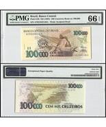 Brazil 100 Cruzeiros Reais on 100,000 (100000),... - £15.35 GBP
