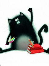 Rob Scotton Splat The Cat Illustration 32x24 Pr... - $13.95