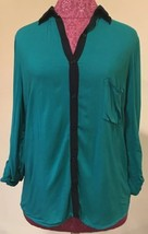 Splendid Woman's Top Size medium Teal Button Down - $30.60