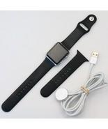 Apple Watch 42mm Stainless Steel Case Black Sport Band MJ3U2LL/A - *iCloud* - $79.99