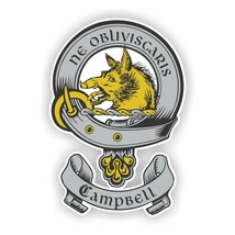 Clan Campbell Scottish Family Shield  Decal - $3.46+
