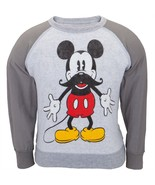 Mickey Mouse Mustache Juvy Reversible Crewneck Sweatshirt - $11.99