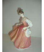 Royal Doulton HN 2835 Fair Lady Coral Pink Lady Figurine - $50.69