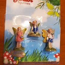"Fairy Figurines, set of 3, Fairy Garden Decor, Fairies Craft, Plastic 1-1.5"" image 4"