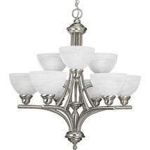 Glendale Collection Brushed Nickel Hanging Chandelier Light Kitchen P4085-09 - $308.64