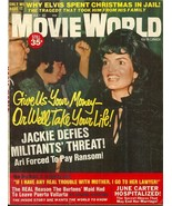 MOVIE WORLD May 1971 - JACKIE KENNEDY, GLEN CAMPBELL, JOHNNY CASH, ELVIS... - $8.50