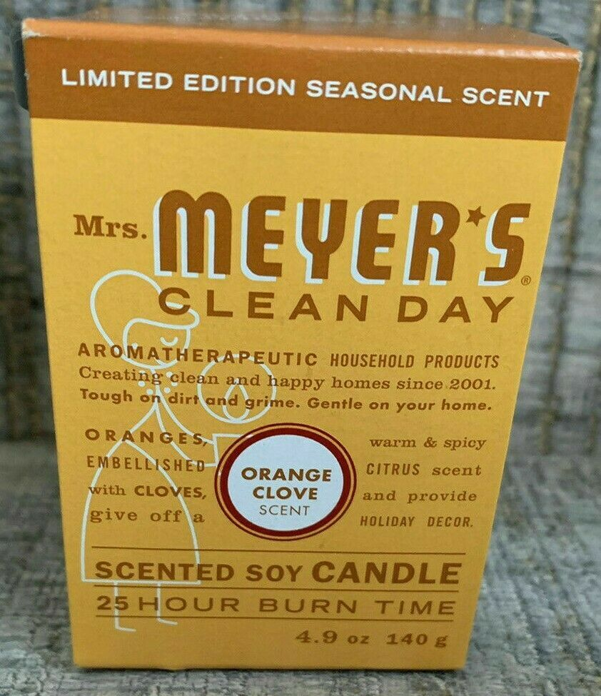 Mrs. Meyer's Limited Edition Candle with Sleeve Orange Clove 4.9 oz