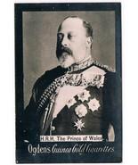 Ogden's Guinea Gold Cigarettes Tobacco Card H.R.H. The Prince Of Wales V... - $3.99