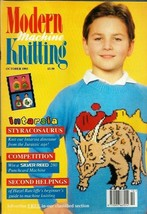 Modern Machine Knitting Oct 1993 Magazine Intarsia Styracosaurus, Eagle,... - $14.24
