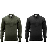 Tactical Acrylic Solid 5 Button Fitted Army Sweater - $34.99+