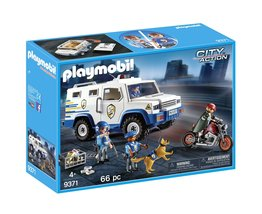 PLAYMOBIL® Police Money Transporter Building Set - $54.78