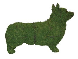 """Corgi 28"""" Topiary Sculpture - Wire Frame, Moss Filled or Lighted - $121.99+"""