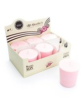 Sandalwood Rose Highly Scented Hand Poured Pink Natural Soy Votive Candl... - $16.95